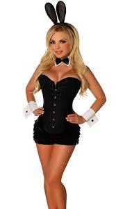 Playboy Bunny Costume Halloween Size Deluxe Bunny Beauty Costume Black Bunny Bunny Ears