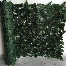 wholesale plastic leaf artificial wooden expanding trellis fencing