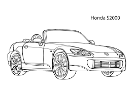 super car honda s2000 coloring page cool car printable free