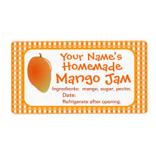 personalized mango jam canning jar labels stickers zazzle