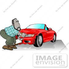 wrecked car clipart car insurance man investing a claim on a wrecked sports car clipart