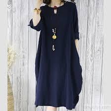 navy linen summer shift dress plus size sundress casual maternity