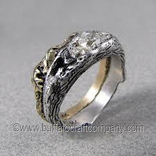 nature inspired engagement rings woodland world nature inspired wedding ring set buffalo