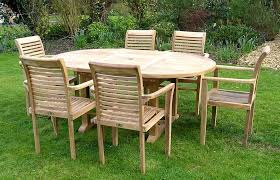 Patio Table 6 Chairs Furniture Creative Outdoor Furniture Suggestion Teak Patio