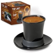 top hat espresso cup and saucer fun giftgiving pinterest