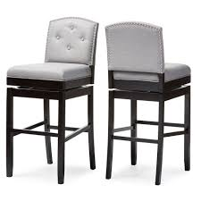 Grey Leather Bar Stool Furniture Burke Linen Barstool Grey Gray Leather Bar Stools