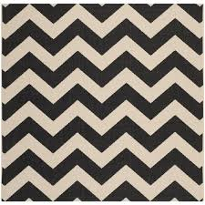 Square Indoor Outdoor Rugs Safavieh Courtyard Chevron Black Beige Indoor Outdoor Rug 5 3