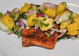 quick and easy blackened salmon with pineapple salsa valerie hoff