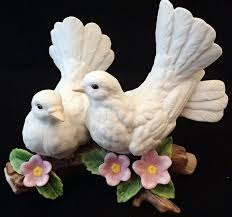 home interiors figurines porcelain home interiors courtship doves figurine engagement gift