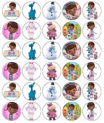 doc mcstuffins cupcake toppers 30 x doc mcstuffins disney edible cupcake toppers wafer paper