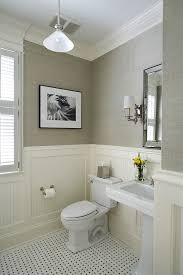 Two Tone Walls With Chair Rail Chair Rail Molding Ideas For The Bathroom Renocompare Small