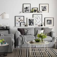 gray and white living room white living room with photo display living rooms white photo