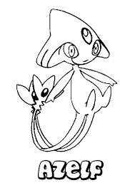 pokemon coloring pages gallade azelf coloring pages hellokids com