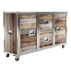 Reclaimed Sideboard Industrial Loft Reclaimed Teak Wood Buffet Sideboard Zin Home