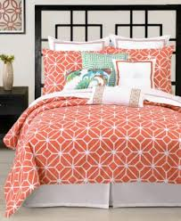 closeout trina turk trellis coral comforter and duvet cover sets