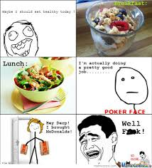 Eating Healthy Meme - i should eat healthy today by hussein123 meme center