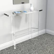 Slimline Console Table Clear Perspex Acrylic Console Table Premium Acrylic Made In
