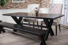 Ember Table Industrial Steel X Base Table James James Furniture Springdale