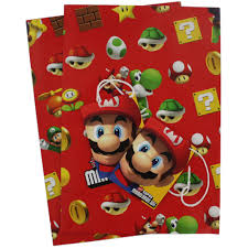 mario wrapping paper mario bros gift wrap gift bags at the works