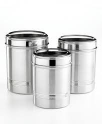 stainless steel canister sets kitchen tools of the trade basics stainless steel canisters