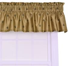 amazon com ellis curtain fleur di lis faux silk tailored valance