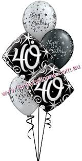 40th birthday balloons delivery 40th birthday funky balloons brisbane qld helium balloon gift