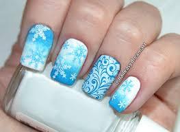 diy christmas nails snowflakes nail art tutorial маникюр на