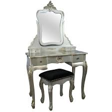 french style antique silver dressing table and stool furniture