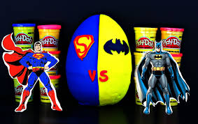 Batman Vs Superman Inspired Play Doh Egg With Toys бэтмен против