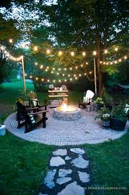 String Lights Over Pool by Brooklyn Limestone Fall Friendly Ways To Keep Your Patio Party