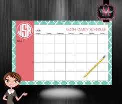 cool desk pad calendars monthly calendar desk pad custom monogrammed choose your colors