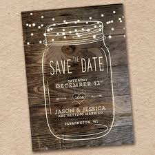 rustic save the date jar save the date rustic save the date country save the