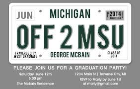 unique graduation announcements license plate graduation party invitation unique graduation