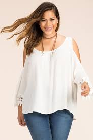shoulder blouse women s plus size blouses farrah fringe cold shoulder blouse a