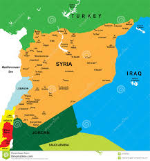 Middle East On Map by Syria And The Middle East On A Map Stock Images Image 23370394