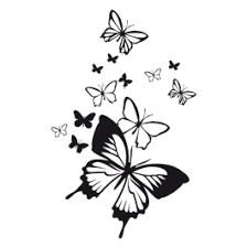 flying butterflies laptop stickers skin dezign with a z