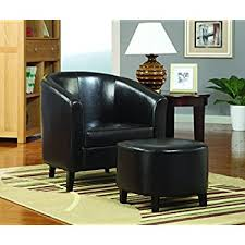 accent chair with ottoman amazon com coaster 900240 vinyl accent chair with ottoman dark