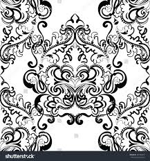 vector floral lace pattern oriental style stock vector 382246816