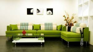 canape vert anis decoration canapé vert anis angle coussins beige és table