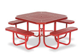 Free Octagon Picnic Table Plans And Drawings by Octagon Commercial Outdoor Table Signature Series Portable
