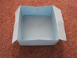How To Make A Box With Paper - origami disposable trash box 盞 how to fold an origami box