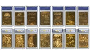 wars cards wars complete gold cards set mint 7 groupon
