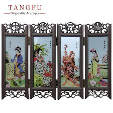 home decor chinese antique folding screen miniature table
