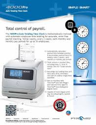 amazon com pyramid 4000 auto totaling time clock made in the
