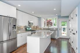 Kitchens With Subway Tile Backsplash Glass Subway Tile Kitchen Wooden Cabinet Built In Oven Cylinder