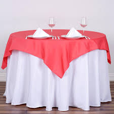 tablecloth for 54x54 table 54 x 54 coral wholesale seamless polyester square tablecloth