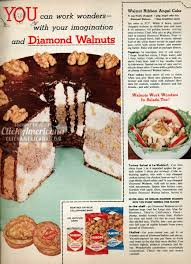 walnut ribbon angel cake recipe 1956 click americana