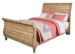 Cherry Wood Sleigh Bed Bedroom Amazing Homecoming Solid Wood King Sleigh Bed In Vintage