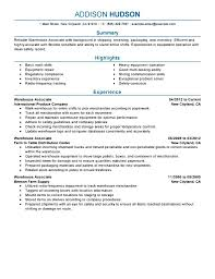 Best Janitorial Resume by Warehouse Resume No Experience Resume For Your Job Application
