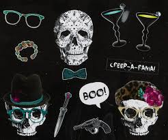 crew halloween photo booth kit